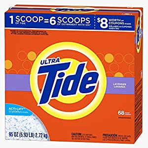 Tide Ultra Lavender Scent Powder Laundry Detergent, 68 Loads, 95 oz