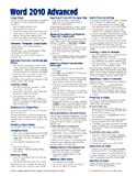 Microsoft Word 2010 Advanced Quick Reference Guide (Cheat Sheets of Instructions, Tips & Shortcuts - Laminated Card)