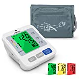Blood Pressure Monitor for Upper Arm with Audio Reading, PANACARE 3.4'' Tri-Color Backlight Automatic Electronic BP Monitor, BP Machine Meter Tester with 8.7-16.5