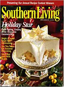 southern living december 2000 holiday star cake on cover annual