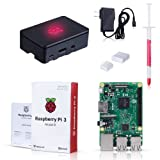 Raspberry Pi 3 Model B Kit with Black Case, Power Supply, Heatsink (Tamaño: Set004 with Black Case)