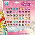 Disney Princess Kids 24-pair Sticker Earrings (Pack of 3) by Disney
