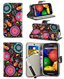 New Stylish Pattern Modern Print Design Wallet Flip Case Cover with Integrated Stand & Retractable Stylus Pen for HTC Desire 510 / A11 - Jellyfish Design Case