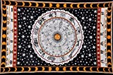 Tradestar Zodiac Sign Astrologic Tapestry, Psychedelic Horoscope Wall Hanging...