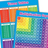 A3 Times Tables & Multiplication Square Maths Educational Posters