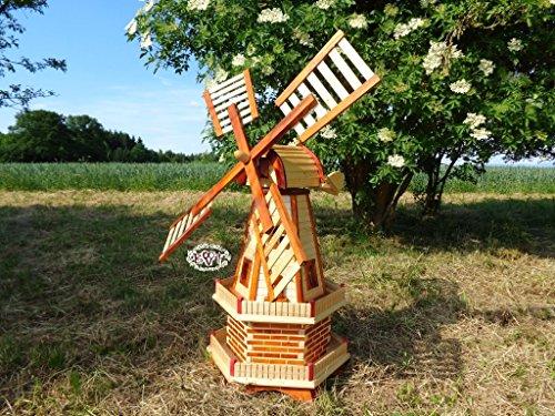 artisans-windmuhle-moulin-a-vent-de-jardin-100-cm-2-etages-avec-2-balcons-jardin-btv-girouette-eolie