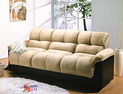 Primo International Deejay Ara Convertible Sofa in Brown