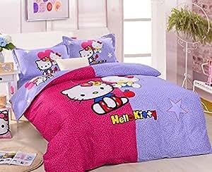hello kitty bedding set kids king duvet cover
