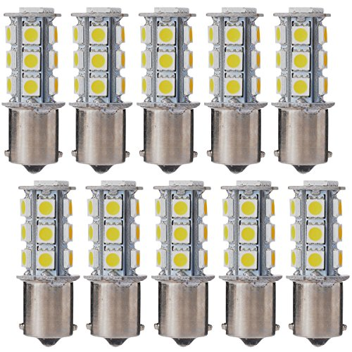 XCSOURCE 10PCS Warm White 1156 BA15S / 1141 / 1073 / 1095 Base 18 SMD 5050 LED Replacement Bulb For RV Camper SUV MPV Car Turn Tail Signal Brake Backup Light MA241