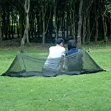 isYoung Parachute Fabric Hammock with Mosquito Net Cover, Durable and Portable , Suit for 2 Persons, Outdoors (Black)