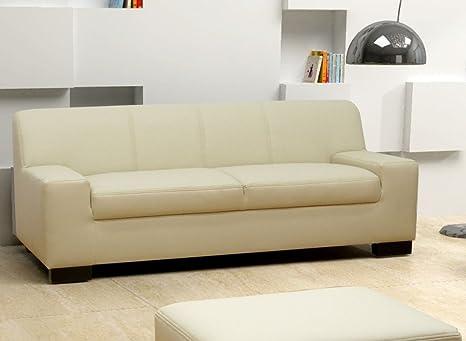 CESENA 2er Sofa Couch 2-Sitzer Kunstleder Natur