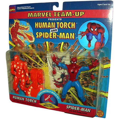 Marvel Team Up > Human Torch and Spider-Man Action Figure 2-Pack - 1