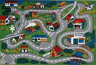 Decorative Kid Rugs-Country Fun-Fun Rugs