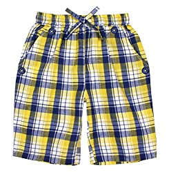 ShopperTree Boys' Regular Fit Shorts (ST-1643_7-8Y, Yellow, 7 to 8 Years)