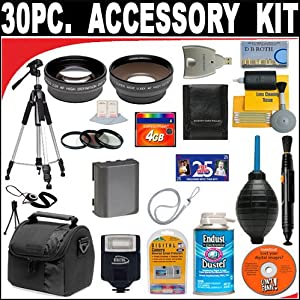 30 PC ULTIMATE SUPER SAVINGS DELUXE DB ROTH ACCESSORY KIT, INCLUDES FLASH, LENSES, FILTERS, ACCESSORIES AND MUCH MORE! For The Sony ALPHA DSLR-A900, DSLR-A700, DSLR-A350, DSLR-A300, DSLR-A200, DSLR-A100 Digital SLR Cameras Which Have Any Of These (35mm, 28mm) Sony Lenses + BONUS Gift = Waterproof Camera = Great For Kids