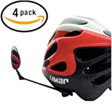 Bike Mirror For Helmet - Adjustable Helmet Mirror With Crystal Clear View - From Life On Bicycle (4 Pack)