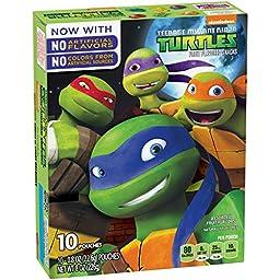 Fruit Shapes Fruit Snacks, Teenage Mutant Ninja Turtles, 8 Ounce (Pack of 10)