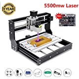 [Upgraded Version] 2-in-1 5500mw Engraver CNC 3018 Pro Engraving Machine, GRBL Control 3 Axis Mini DIY CNC Router Kit with Offline Controller, Working Area 300x180x45mm, for Wood Plastic Acrylic PVC (Tamaño: 3018PRO 5.5W)