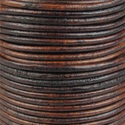 Jewellery of Lords 2 meters of Antique Dark Brown 2mm High Quality Round Cord Real Leather String Lace Thong Jewellery Making