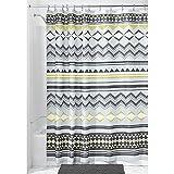 InterDesign Aztec Shower Curtain, Mist/Okra