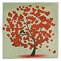 Luxbon Vintage Kissenbezug Kissenhülle Platz Dekorative Akzente Setzen Fall Sofa 45x45 cm Herz Leben Baum Rot von Luxbon - Gartenmöbel von Du und Dein Garten