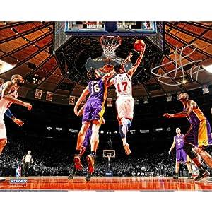 Steiner Sports NBA New York Knicks Jeremy Lin Reverse Layup Autographed 16x20... by Steiner Sports