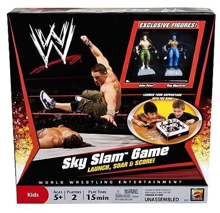 Mattel - R3201 - Jeux Enfant - Jeu de plateau - WWE - Sky Slam