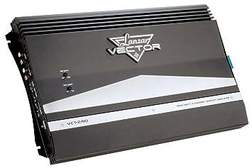 Lanzar VCT2410 Amplificateur haute puissance à Mosfet 2canaux pour voiture 4000W