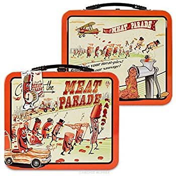 Accoutrements Meat Parade Metal Lunch Box