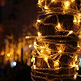 Indoor Dimmable Fairy String Lights with Remote & Timer, Loende 72FT 200 LED 8 Modes Warm White Low Voltage Plug-in String Lighting for Outdoor, Patio, Lawn, Window, Bedroom, Wedding Decor