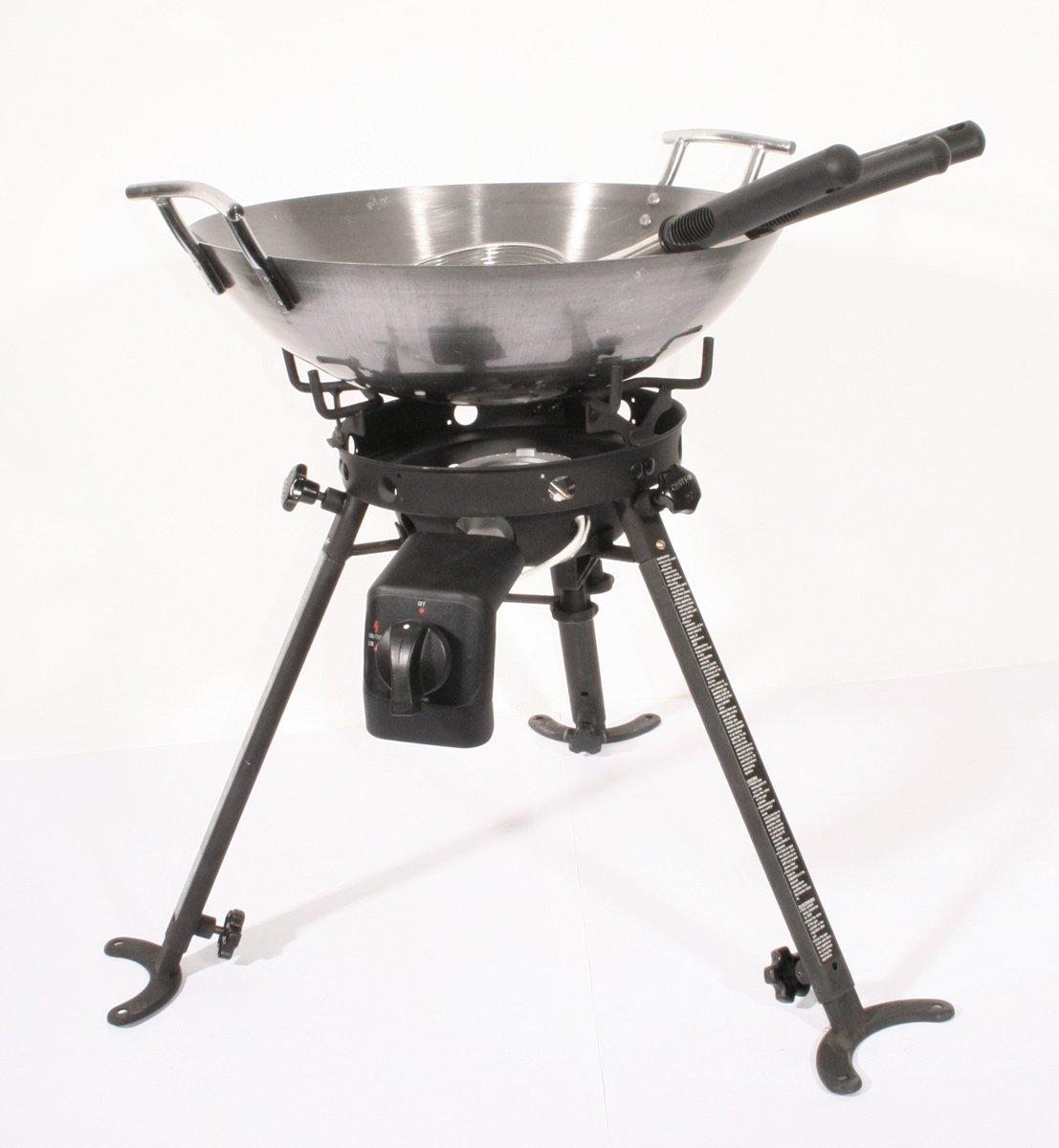 Hockerkocher 3 Fuss mit Wok, Pfannenbesteck S+R jetzt kaufen