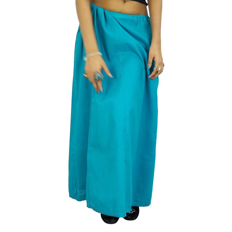 Indische Frauen tragen Baumwolle Bollywood Petticoat Solide Inskirt Futter für Sari-Geschenk für sie günstig bestellen