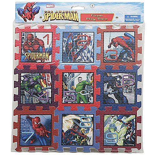Picture of Greenbrier International 9-Piece Spiderman Foam Play Mat Puzzle from Disney & Greenbriar Int'l (B000EVOUNI) (Puzzle Play Mats)