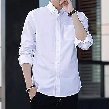 SUNDAY ROSE(サンデーローズ) メンズ カジュアル ビジネス シャツ 綿100% ポケット付き ファッション ボタンダウン 折り襟 無地 ビジカジ クールビジ