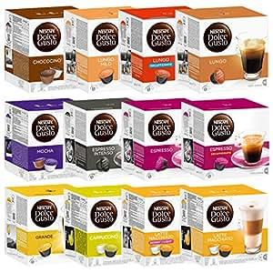 Nescafé Dolce Gusto Capsules Lot tout compris, 12 Boîtes, 192 capsules