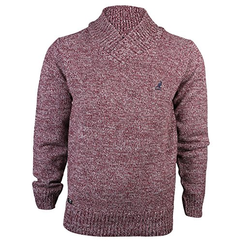 mens-kangol-port-kinley-ribbed-v-roll-neck-tone-knitted-jumper-knit-top-size-l