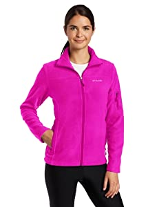 Columbia Women's Fast Trek II Full Zip Fleece Jacket, Groovy Pink, X-Large