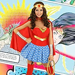 Superhero Wonder Woman Sexy Costume Deluxe Dog-Size 36 / 38 by Less is more