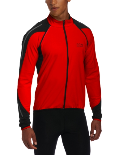 Gore Bike Wear Men's Phantom 2.0 Soft Shell Jacket, Red/Black, Large