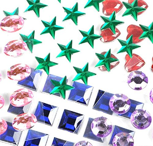 Adhesive Back Craft Jewels (500 Assorted Pieces) (Gems Arts And Crafts compare prices)