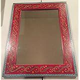 Sitara Collections Handcrafted Mango Wood Mirror - Suitable Wooden Mirror For Bedroom, Bathroom, Living Room &...