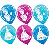 Cinderella Printed Latex Balloons- Assorted Colors