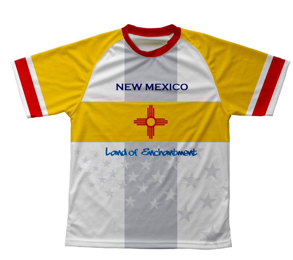 New Mexico Flag Technical T-Shirt for Men and Women carlos rivera mexico