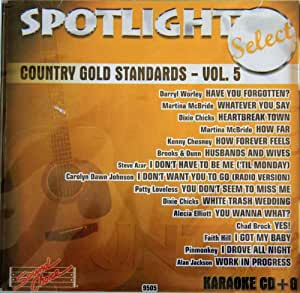 Sound Choice Karaoke: Country Gold Standards Vol 5