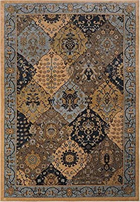 """Home Dynamix Antiqua Collection Blue/Multicolor 7'8"""" by 10'2"""" Area Rug"""