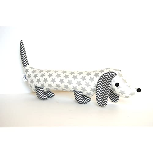 Silver Metallic Stuffed Dachshund Plushie Wiener Dog Softie Plush for Kids