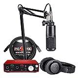 Audio-Technica AT2020PK + Focusrite Scarlett 2i2 + 10 ft. XLR Cable (Podcast Bundle)