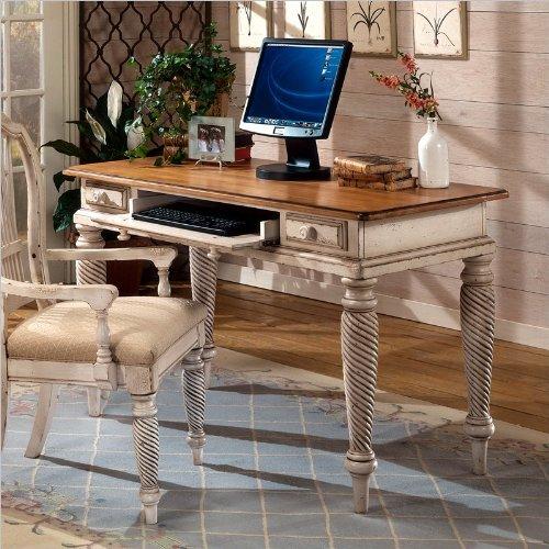 Distressed White Desk