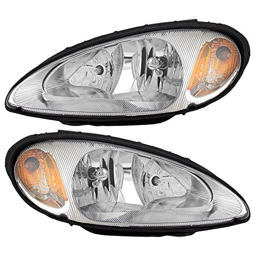 Driver and Passenger Headlights Headlamps Replacement for Chrysler 5288765AI 5288764AI (Headlight Assembly Pt Cruiser compare prices)