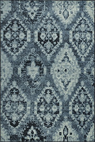 Dalyn Beckham Area Rug BC8444 Bc8444 Denim Denim Diamond Leaves 4' 11